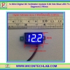 1x Mini Digital DC Voltmeter module 5-30 Vdc Blue LED 7's Segment 2 Wires