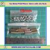 12x Metal PCB Pillars 15mm with 24x Nuts (เสารองแผ่นพีซีบีโลหะแบบเหลี่ยมพร้อมน็อตยึด)