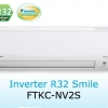 Daikin Air Conditioner Inverter FTKC Smile 8,500 BTU : FTKC09NV2S โทรเล้ย 0972108092