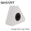 Microphone Logo SMART Triangle Mic Logo เพลทติดโลโก้ สามเหลี่ยม พร้อมฟองน้ำซับใน - White