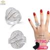 แหวนเพชร ประดับ เพชรCZ ดีไซน์สวยเพิ่มความโดดเด่นให้กับเรียวนิ้ว ให้ลุคของคุณดูสง่าได้อย่างไม่น่าเชื่อ สวยอย่างมหัศจรรย์