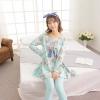 ชุดวอร์ม ชุดนอนเกาหลี เซทเสื้อแขนยาว กางเกงยาว ลายกระต่าย สีฟ้า