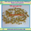 100x Capacitor 0.1uF 50V (Code 104) Multilay Ceramic Capacitor