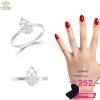 แหวนเงิน ประดับเพชร CZ แหวนใบไม้ฉลุโปร่ง ใส่ได้ทุกโอกาส mix ง่าย ๆ ได้ทุกแนว อย่างมีสไตล์ เรียบหรู แนวคลาสิค ใส่แล้วสวยเริศเลย