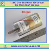 1x DC Gear Box Motor 12V 30 rpm Dia 37mm Shaft Dia 6mm