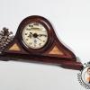 นาฬิกาตั้งโต๊ะไม้สักเก่าจาก ปตท.