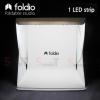 Foldio สตูดิโอถ่ายภาพ ขนาดพกพา ขนาด 10″ (ไฟ LED 1 เส้น)