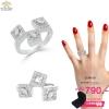 แหวนเพชรcz ประดับเพชร CZ แหวนดีไซน์เก๋ สวยหรู ก้านเรียวเล็ก มีลักษณะเรียบง่ายแต่แฝงความโมเดิร์นคลาสสิก