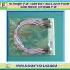 1x Jumper (F2F) cable Wire 10pcs 20cm Purple color Female to Female (F2F)