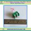 1x Terminal Block Connector 2 Pins Pitch 7.62 mm Barrier Type (Green Color)