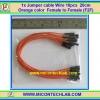 1x Jumper (F2F) cable Wire 10pcs 20cm Orange color Female to Female