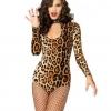 Pre Order / ฮาโลวีนผู้หญิงเซ็กซี่แมวป่าแมวสยามเสือดาวสาวคอสเพลย์ (ไม่มีถุงน่อง)