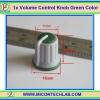 1x Volume Control Knob Green Color (ลูกบิดสำหรับวอลลุ่ม)
