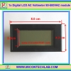 1x Digital LCD AC Voltmeter 80-500VAC module