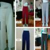 กางเกงเอวสูงขายาว กางเกงผ้าฮานาโกะ ขากระบอก และเดฟ
