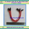 1x Jumper (F2M) cable 20 cm 10pcs Red color (Female to Male)