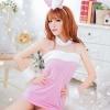 Pre Order / ชุดกระต่ายสาวน้อยน่ารัก สี pink หู + เสื้อ + คอ (ไม่มีถุงน่อง)