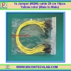 1x Jumper (M2M) cable 20 cm 10pcs Yellow color (Male to Male)