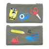 STATIONERY DOUBLE ZIPPER PENCIL CASE
