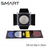SMART SN-02 Barn Door w/Honeycomb Grid&4pcs Color Filter Kit for Bowens