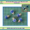 5x Female Blue Color 4 mm Banana Jack Connector