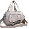 กระเป๋าเนื้อ kipling + สะพาย ใบเล็ก สีเทา