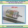 1x DC Gear Box Motor 12V 400 rpm Dia 37mm Shaft Dia 6mm