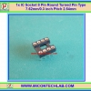 1x IC Socket 8 Pin Round Turned Pin Type 7.62mm/0.3 inch Pitch 2.54mm