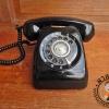 โทรศัพท์เก่าสีดำญี่ปุ่น