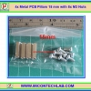4x Metal PCB Pillars 15 mm with 8x M3 Nuts (เสารองแผ่นพีซีบีโลหะแบบเหลี่ยมพร้อมน็อตยึด)