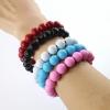 ราคาพิเศษ!! สายชาร์จแบบหินสี ลูกปัดหินนำโชค กำไลประดับ bead bracelet data cable สำหรับ Iphone 5, 5s, 6, 6+