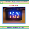 1x Digital DC (0-30V 10A) Voltmeter Ammeter Red Blue Color module
