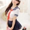 พร้อมส่ง / ชุดคอสเพลย์ นักเรียนญี่ปุ่น แบบเซ็กซี่ เสื้อ + กระโปรง ไม่มีจีสตริง