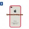 Case iPhone 4/4s iPhone 5 ขอบสีชมพู ด้านหลังสีใส