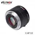 Viltrox C-AF 2x Magnification Teleconverter Extender Auto Focus Mount Lens for Canon EOS Ef Lens
