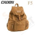 Caden F5 Retro Canvas DSLR Camera Backpack (Khaki)