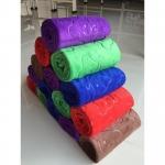 ขายส่ง ผ้าเช็ดผมนาโน สีพื้นหนา อัดลาย (คละสี) ขนาด 30*70 cm ส่ง 20 บาท