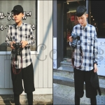 PRE-ORDER เสื้อเชิ้ตแฟชั่นแบบใหม่ เสื้อเชิ้ตแขนยาวลายใหม่ ออกแบบลายสก๊อตย้อนยุค