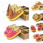 รองเท้า Paul Frank พื้นยาง สีน้ำตาล,สีชมพู / แพค 5 คู่ครบไซส์