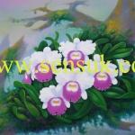 ภาพวาดดอกกล้วยไม้(ขายไปแล้วสั่งวาดใหม่ได้)