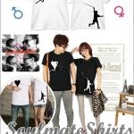 เสื้อคู่รัก ชุดคู่รัก เสื้อคู่ เสื้อคู่รักเกาหลี เสื้อยืดคู่รักพร้อมส่ง เสื้อคู่รักสวยๆ เสื้อยืดคู่รัก แขนสั้นผ้าฝ้าย ลายการ์ตูนเด็กเล่นว่าวรูปหัวใจ