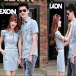PRE-ORDER ชุดคู่รักน่ารัก เกาหลีใหม่เนื้อผ้ายีนส์ซีดบาง ญ.เดรสสั้น(+เข็มขัด)/ช.เสื้อเชิ้ต