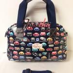 กระเป๋าถือ+สะพาย Chalita wu สีกรม ลายรถ