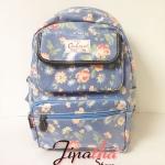 กระเป๋าเป้ Chalita wu สีฟ้า ลายดอก