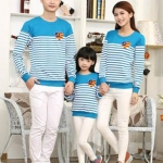 เสื้อครอบครัว เสื้อครอบครัวพร้อมส่ง ชุดครอบครัว แขนยาว ผลิตจากผ้าฝ้ายคุณภาพสูง สวมใส่สบาย