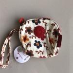 กระเป๋าคล้องมือผ้าลิง สีขาวซากุระ