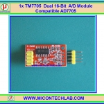 1x TM7705 Dual 16-bit A/D module Compatible AD7705 SPI Interface