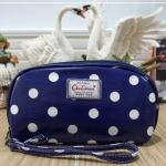 กระเป๋าสตางค์ Chalita wu สีน้ำเงิน ลายจุด