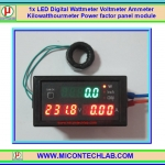 1x LED Digital Wattmeter Voltmeter Ammeter Kilowatthourmeter Power factor panel module