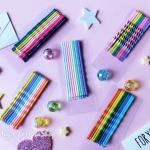 เลือกสีด้านใน กิ๊บชุด 10 ชิ้น Rainbow Color HR2353